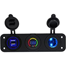 Cuque 12V 20A Car Rocker Toggle Switch LED SPST On//Off Switch Blue Cover for Critical Lights Chassis Lamp Fog Lamps Dome Light