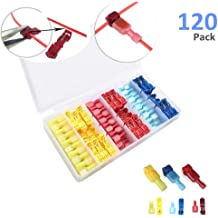 180pcs Heat Shrink Spade Connectors MELIFE Quick Disconnect Wire Connectors Electrical Spade Terminals Nylon Fully Insulated Male and Female Wire Terminals Connectors Set