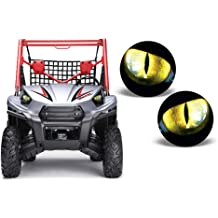 AMR Racing UTV Headlight Eye Graphic Decal Cover for Arctic Cat Wildcat Eclipse Green