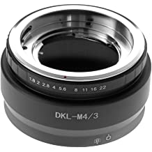 Camera Lens Mount Adapter Ring,DKL-M4//3 Aluminium Alloy Manual Adjustable Aperture Lens Adapter Ring Converter for DKL Mount Camera Lens to for Olympus M4//3 Mount Camera