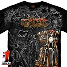 Official 2019 Sturgis Motorcycle Rally Saloon Charcoal T-Shirt CHARCOAL Extra Large