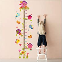 DAWEIF Kids Growth Chart,Removable Growth Chart Height Measure Wall Sticker Removable Wall Decal for Living Room Mural Art Decoration