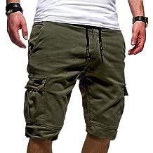 POHOK Men Pants Casual Mens Shorts Swim Trunks Quick Drying Home Beach Pants Slim Three Pants Sports Shorts