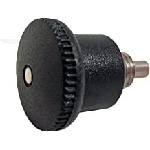 with Lock Nut 3//8-24 Thread Size 617.1-5-3//8X24-AK-NI GN 617.1-NI Series Stainless Steel Lock-Out Type Inch Size Indexing Plunger with Plastic Pull Knob 0.67 Thread Length 3//8-24 Thread Size 0.67 Thread Length JW Winco Inc