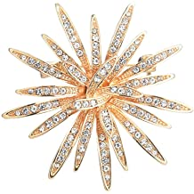 a42420f64 GYAYU Brooch Pins for Women,Gold Tone Austria Rhinestone Crystal Brooch  Pins Jewelry