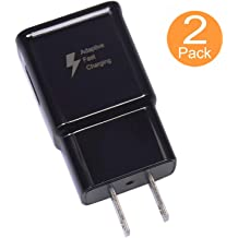 Galaxy S8 Active and More 2 Pack Spater Adaptive Fast Charging Wall Charger Compatible with Samsung Galaxy Note9 // Note8 // Note5 // S10 // S9 // S8 // S8 // S7 // S6 Plus White