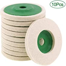 Utoolmart 7inch Cotton Muslin Buffing Wheel with a 16mm Center Arbor Hole Thick Cotton Treated Sewn Buffing Wheel for Jewelry Polish Wheel 1pc