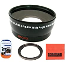 Close Up Filter Set Deluxe Lens Kit for Canon PowerShot SX500 IS 16.0 MP Digital Camera Includes 67mm 3PC Filter Kit More!! 67mm 0.45x Wide Angle Lens with Macro Filter Adapter 67mm 2X Telephoto Lens +1 +2 +4 +10 4PC