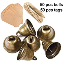 diollo Brass Bells Jingle Bells Wind Chimes Bells for Home Crafts Hanging Decoration Gift 2 Inch