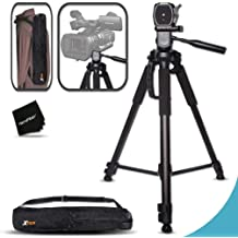 PXW-X70 Large for Sony PXW-X70 PXW-Z100 80 Inch Elite Series Professional Heavy Duty Camcorder Tripod FDR-AX33, NEX-EA50UH NEX-EA50M HXR-NX5U FDR-AX1 HXR-NX3 Black Digital Camera // Video Padded Carrying Case FDR-AX1 DCR-SD1000E HXR-MC1500E