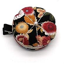 DEWIN Pin Cushion Pumpkin Fabric Sewing Needles Pin Cushion 1 PCS with Elastic Wrist Belt Color : #3 3 Colors