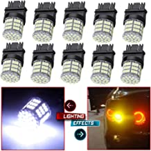 cciyu Pack of 6pcs White 7443 High Power Epistar 85SMD 3020 LED Light Bulbs T20 7440 7444 7441 Reverse Brake Tail Turn Light