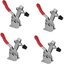 POWERTEC 20334 Quick Release Horizontal Toggle Clamp w Rubber Pressure Tip 201C Hold Down Hand Tool 220 lb Holding Capacity