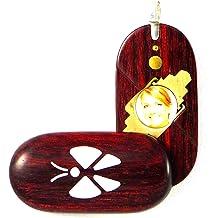 Illusion Lockets Jesus Star Ornament Figurine Wood Carving