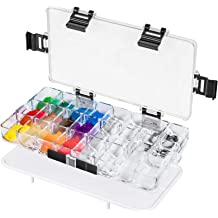 by Hethrone Oil Paint Acrylic Paint Pallet Tray 24-Well Airtight Paint Palette Stay Wet for Watercolors Gouache