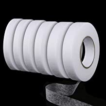 LAUWOO 6 Pieces 70 Yards Fabric Fusing Tape Hem Tape Adhesive Iron-on Hemming Tape Roll 15 mm 3//5 Inch, 4//5 Inch 20 mm Wide Clothes