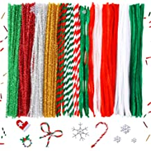 450Pcs 4/Size/4 Colors/Pom Poms and 50Pcs 4 Size Wiggle Eyes for Halloween DIY Caydo 700 Pieces Halloween Pipe Cleaners Sets Include 200Pcs 4/Colors Pipe Cleaners Creative Crafts Decorations