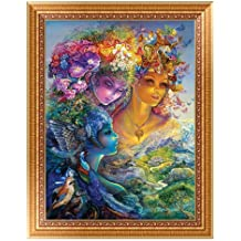 Yeefant New Born Baby Modern Art Embroidery Paintings No Fading 5D Canvas Rhinestone Pasted DIY Diamond Cross Stitch Home Wall Decor for Bedroom Living Room,12x16 Inch,Multicolor B