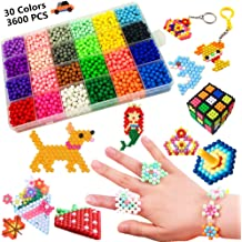 Mipartebo Water Fuse Beads 36 Colors 7200 Beads Magic Water Sticky Beads Set Fun DIY Art Crafts Toys for Kids Beginners