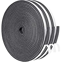 "1//4/"" Thick X 3//4/"" W X 35/' Long HD Sealer Medium Density Black Vinyl Foam Tape"