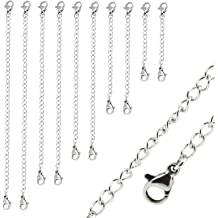 1pc Sterling Silver Chain Extender Strong and Long Lasting 4 inch Chain Extension for Necklace Anklet Bracelet SS287-4