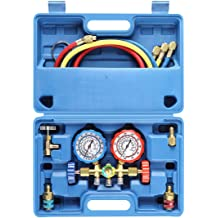 with R1234yf Quick Coupler Adapters HVAC Goetland Brass Diagnostic Manifold Gauge Kit Charging Hoses for R134a R410a