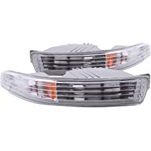Sold in Pairs Anzo USA 511045 Chevrolet Camaro Black Bumper Light Assembly with Amber Reflector