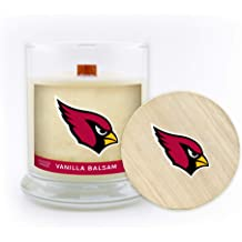 Worthy Promo NFL Kansas City Chiefs Gifts 8oz Scented Candle Soy Wax w//Wood Wick and Lid Meadow Showers