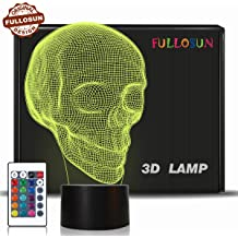3D White Gray Grey Tatoo Halloween Skull Carved Statue Lamp Night Light with Himalayan Pink White Salt Chunks Omonic Himalayan Salt Lamp Lights Dimmer Switch Control with 1 Salt Candle Holder