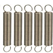 Free Length 0.79 inches Stainless Steel Coil Extended Compressed Spring 5pcs uxcell Wire Diameter 0.035 inches OD 0.35 inches