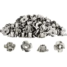 Tee Nuts 3//8 Stainless Steel U-Turn 25 Count 4 Prong 7//16 Barrel