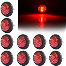 w Reflector Sleeper Light LTPAG 10pc Red 9 LED Light Trailer 2 Round Clearance Marker Light