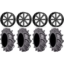 9 Items 4x137 Bolt Pattern 10mmx1.25 Lug Kit Bundle XS135 Grenade 14 Wheels 28 BFG KM3 Tires