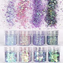 1 Bottle Mermaid Sequins Gel Glitter Eyeshadow Fashion Eyes Makeup Cosmetic Mixed Paillette Universal Face Body Hair Glitter Gel Beauty Essentials