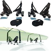 3 in 1 Universal Kayak Carrier Car SUV Roof Rack J-Shape Fodable Racks Compatible With Canoe SUP Kayaks See Fitment HongK