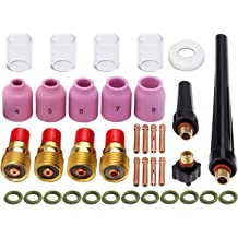 TIG Gas Lens Collet Body Pyrex Cup 10 Kit for DB SR WP 9 20 25 TIG Welding Torch 36pcs