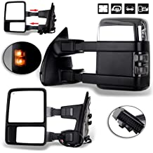OCPTY Black Right Side View Mirror Manual Folding Power Adjustment Heated Turn Signal Fit for 2003-2007 Gmc Chevy Truck 2003-2007 Chevy Silverado 1500 2500 62134G-D67