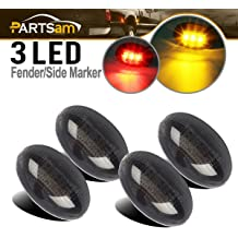Miniclue 3pcs Smoked Lens White LED for 2010-2014 and 2017-up Ford Raptor Grille Running Lights Powered by 45 Pieces of SMD LED Lights