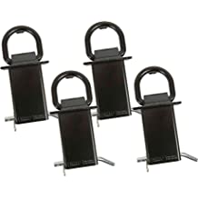 Hodenn 4pcs Heavy Duty Stake Pocket/D-Ring fit for Utility Trailers and Flatbeds with Hitch Pin