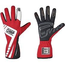 OMP IB//756//R//XS Tecnica Evo Gloves, Red, X-Small