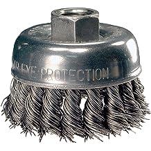 13,000 Max RPM 0.01 Wire Diameter 1//4 Stem Diameter 2 Diameter INOX Stainless Steel Wire PFERD 82838 Stem Mounted Crimped Wire Cup Brush Pack of 10