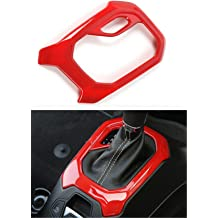 Dwindish Red ABS Decoration Headlight Switch Frame Trim Cover for Jeep Renegade 2015 Up
