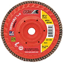 SAIT 70969 Trim Back Flap Disc with 5-Inch-Inch Diameter and 5//8-11-Inch Arbor 10-Piece United Abrasives