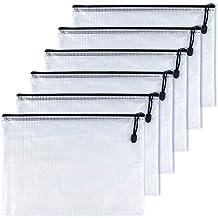 OAIMYY B5-Waterproof Tear-Resistant Plastic Zipper Pen File Document Folders Pockets Travel Bags
