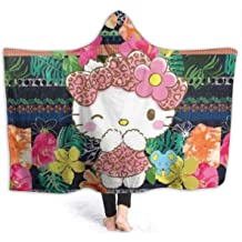 EIIORPO Cartoon Hello Kitty Sherpa Throw Blanket Super Soft Cozy Plush Fleece Blanket for Bed Couch Chair Baby Crib Living Room 40X 55, Hello Kitty