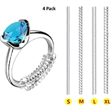 Fitter,Reducer for Wide Rings,Multi-Size Ring Resizer,Set of 54+3 PCS Sizer Tightener,Spacer Invisible Ring Size Adjuster with Silver Polishing Cloth,Jewelry Guard