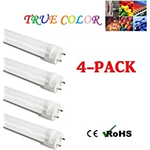 Works from 85-265VAC Frosted Cover Fulight Rotatable LED F14T8 Tube Light-15-Inch 7W Double-End Powered 14W Equivalent Daylight 6000K