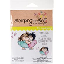 Stamping BellaCircle Palette with Large Brush Cling Stamps