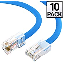 3 Foot Cat6 Red Ethernet Crossover Cable by Konnekta Cable Snagless//Molded Boot Pack of 5