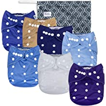 LukLoy Mens Adults Cloth Diapers for Incontinence Care Protective Underwear Dual Opening Pocket Washable Adjustable Reusable Leakfree Sky Blue